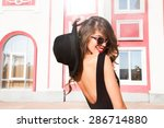 Close Up Fashion Woman Portrai...