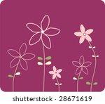 summer background with flower   Shutterstock . vector #28671619