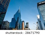 modern buildings at apoquindo... | Shutterstock . vector #28671790