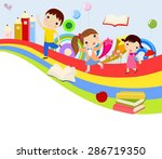 vector illustration of cute... | Shutterstock .eps vector #286719350