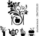 healthy food. vegetarian menu....   Shutterstock . vector #286720133