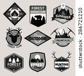 adventure  outdoors  camping... | Shutterstock . vector #286721210