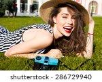 outdoor lifestyle portrait of... | Shutterstock . vector #286729940