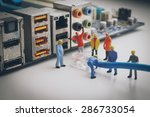 miniature people  network... | Shutterstock . vector #286733054
