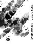 vector art. abstract painted.... | Shutterstock .eps vector #286735658