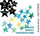 background watercolor stars. it ... | Shutterstock .eps vector #286735808