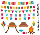 festa junina  brazilian june... | Shutterstock .eps vector #286737800