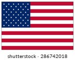 united states of america flag | Shutterstock .eps vector #286742018