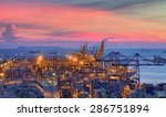 container cargo freight ship... | Shutterstock . vector #286751894