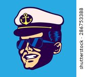 retro cruise ship captain head... | Shutterstock .eps vector #286753388