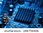 close up of electronic circuit...   Shutterstock . vector #286756406
