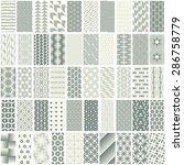 50 geometric seamless pattern...   Shutterstock .eps vector #286758779