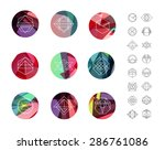 set of colored geometric... | Shutterstock .eps vector #286761086
