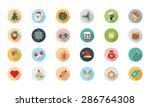 Christmas Flat Colored Icons 1