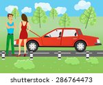 illustration of man and woman... | Shutterstock .eps vector #286764473