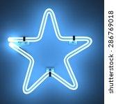 3d render of neon lights   star | Shutterstock . vector #286769018