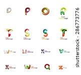 set of new universal company... | Shutterstock .eps vector #286773776