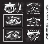 vintage monochrome  barber shop ... | Shutterstock .eps vector #286773848