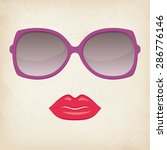 woman lips and glasses | Shutterstock .eps vector #286776146