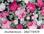 fragment of colorful retro... | Shutterstock . vector #286776929
