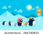 illustration of penguin family... | Shutterstock .eps vector #286780823