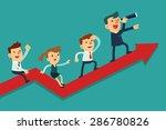 illustration of team of... | Shutterstock .eps vector #286780826
