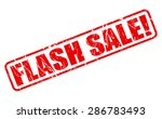flash sale red stamp text on... | Shutterstock .eps vector #286783493