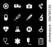 vector white medical icon set.   Shutterstock .eps vector #286785134