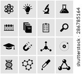 vector black science icon set.  | Shutterstock .eps vector #286785164