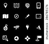 vector white map icon set.   Shutterstock .eps vector #286785176