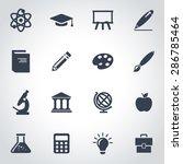 vector black education icon set ... | Shutterstock .eps vector #286785464
