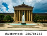 Stock photo fountain and the art museum in philadelphia pennsylvania 286786163