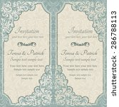 baroque invitation card in old... | Shutterstock .eps vector #286788113