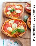 tomato and mozzarella mini... | Shutterstock . vector #286788413