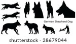various silhouettes of a german ...