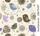 funny cartoon seamless pattern  ... | Shutterstock .eps vector #28679497