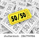 50 fifty word and numbers on a... | Shutterstock . vector #286794986