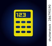yellow vector calculator icon ...
