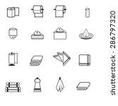 set of toilet paper  napkins... | Shutterstock .eps vector #286797320