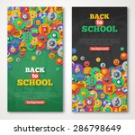 back to school banner set with... | Shutterstock .eps vector #286798649