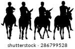 riding donkey silhouette ... | Shutterstock .eps vector #286799528