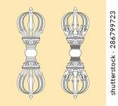 vajra sign symbol tibet logo.... | Shutterstock .eps vector #286799723