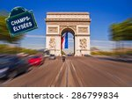 arc de triomphe with a street...   Shutterstock . vector #286799834