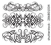 tribal maori styled tattoo... | Shutterstock .eps vector #286801034