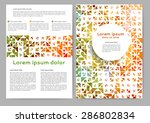 abstract colored brochure... | Shutterstock .eps vector #286802834