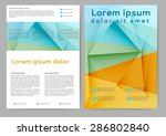 abstract colored brochure... | Shutterstock .eps vector #286802840