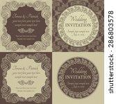 antique baroque wedding... | Shutterstock .eps vector #286803578
