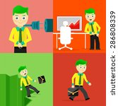 set of businessman pose... | Shutterstock . vector #286808339