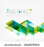 abstract geometric background.... | Shutterstock . vector #286809896