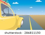 summer travel car concept.... | Shutterstock .eps vector #286811150